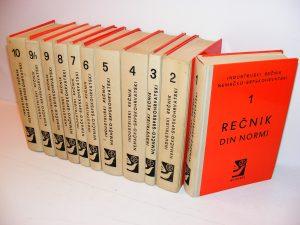 Industrijski rečnik nemačko-srpskohrvatski 1-10 komplet
